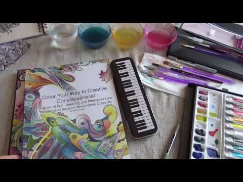 Book Flip Through: Color Your Way to Creative Consciousness, my first abstract coloring book