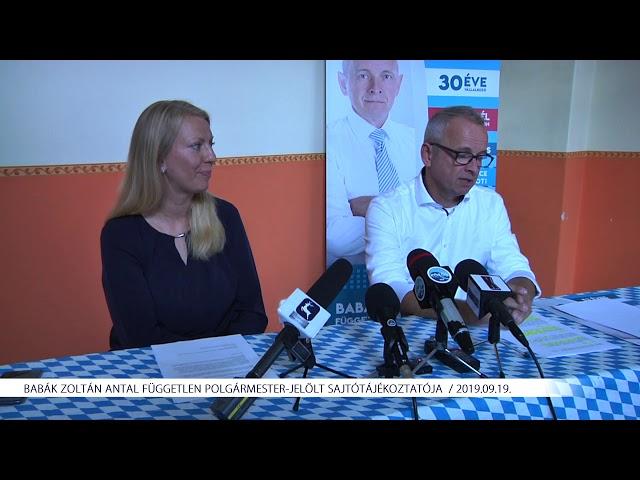 Babák Zoltán sajtótájékoztatója (2019.09.19)