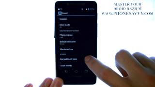 Motorola Droid Razr M - How Do I Disable Dial Pad Touch Sound