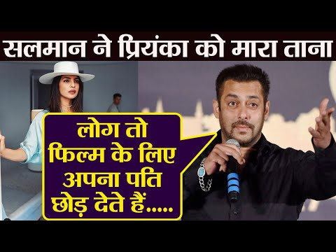 Salman Khan opens up on Priyanka Chopra&39;s impromptu exit from Bharat  FilmiBeat