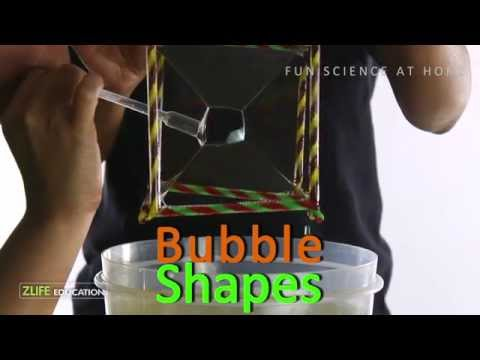 Soap bubble geometry shapes science experiment for kids for How to make bubbles liquid at home