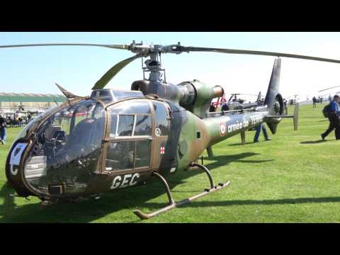 French Army Gazelle Helicopters - 'Gazelle 50' AAC Middle Wallop