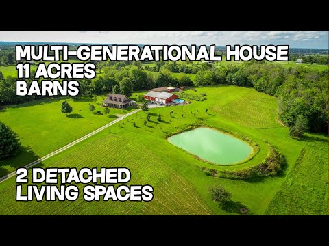 Multigenerational horse property, barns pond, detached living space