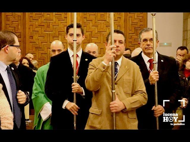 VÍDEO: Estuvimos en la Misa del Cofrade, organizada por la Agrupación de Cofradías de Lucena
