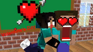 Monster School - Valentine's Day - Minecraft Animation