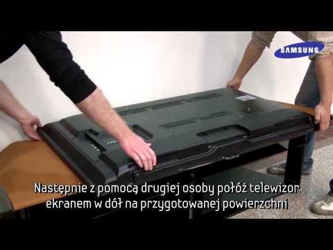 Telewizory Samsung | Porady | 2012 Smart TV | Montaż podstawy plastikowej