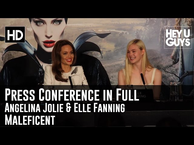 VIDEO: Angelina Jolie, Elle Fanning at the Maleficent Press