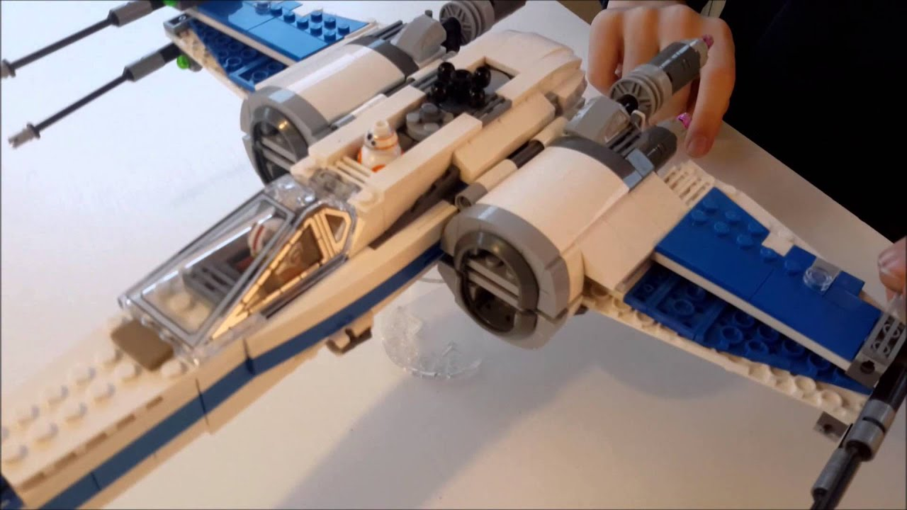 Lego 75102 Custom Resistance X Wing Youtube Star Wars Poeamp039s Fighter