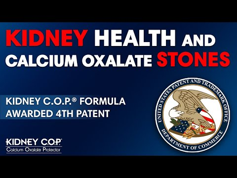 Kidney C.O.P. Is So Innovative - Receives a 4th Patent !