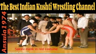 Baba Ramdev Dangal   Sakshi malik in red wins