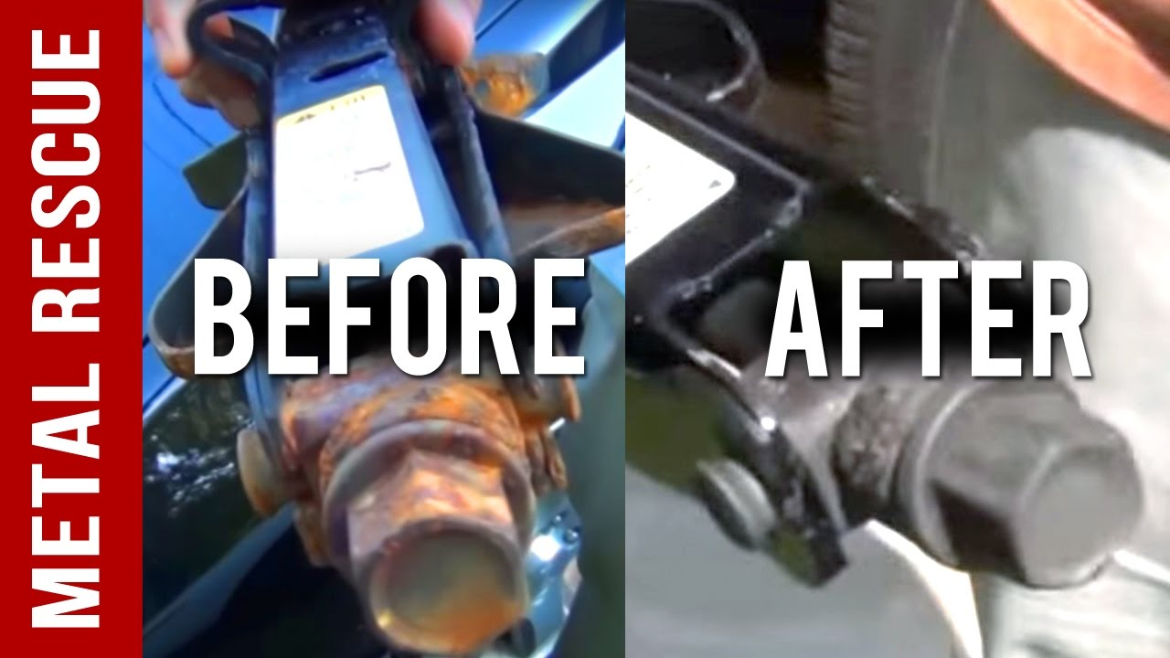 diy rust remover how to remove rust from a metal car part youtube. Black Bedroom Furniture Sets. Home Design Ideas