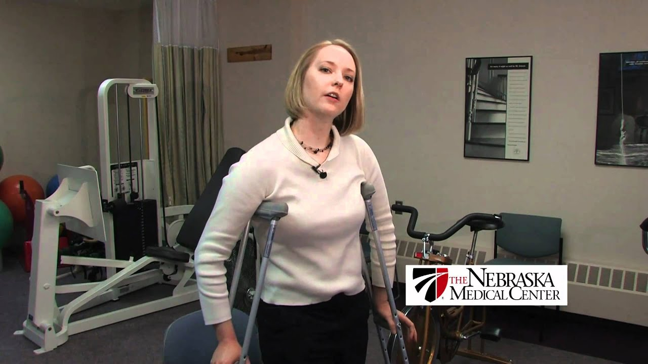 How To Use Crutches Properly The Nebraska Medical Center Youtube