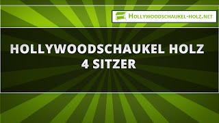 Hollywoodschaukel Holz 4 Sitzer