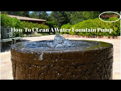 How to Clean an Indoor/Outdoor Fountain Pump