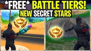 WEEK 4 Fortnite: 2 *FREE* BATTLE STAR Free Battle Tiers | Leaked (Battle Royale leaks)