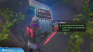 Fortbyte #62: Accessible with the Stratus Outfit Within an Abandoned Mansion - Fortnite