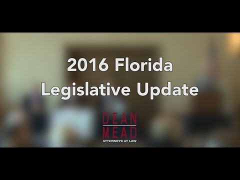 2016 Florida Legislative Update