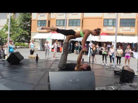 Matt Giordano & Chelsey Korus AcroYoga performance at Wanderlust Vermont 2013