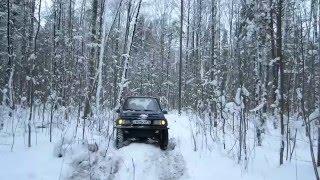 Внедорог №8 Лес.  Зима.  Suzuki Sidekick (Escudo/Vitara)