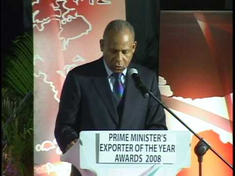 The Honourable, Prime Minister Patrick Manning at the Prime Minister's Exporter  Awards, 2008 part 1