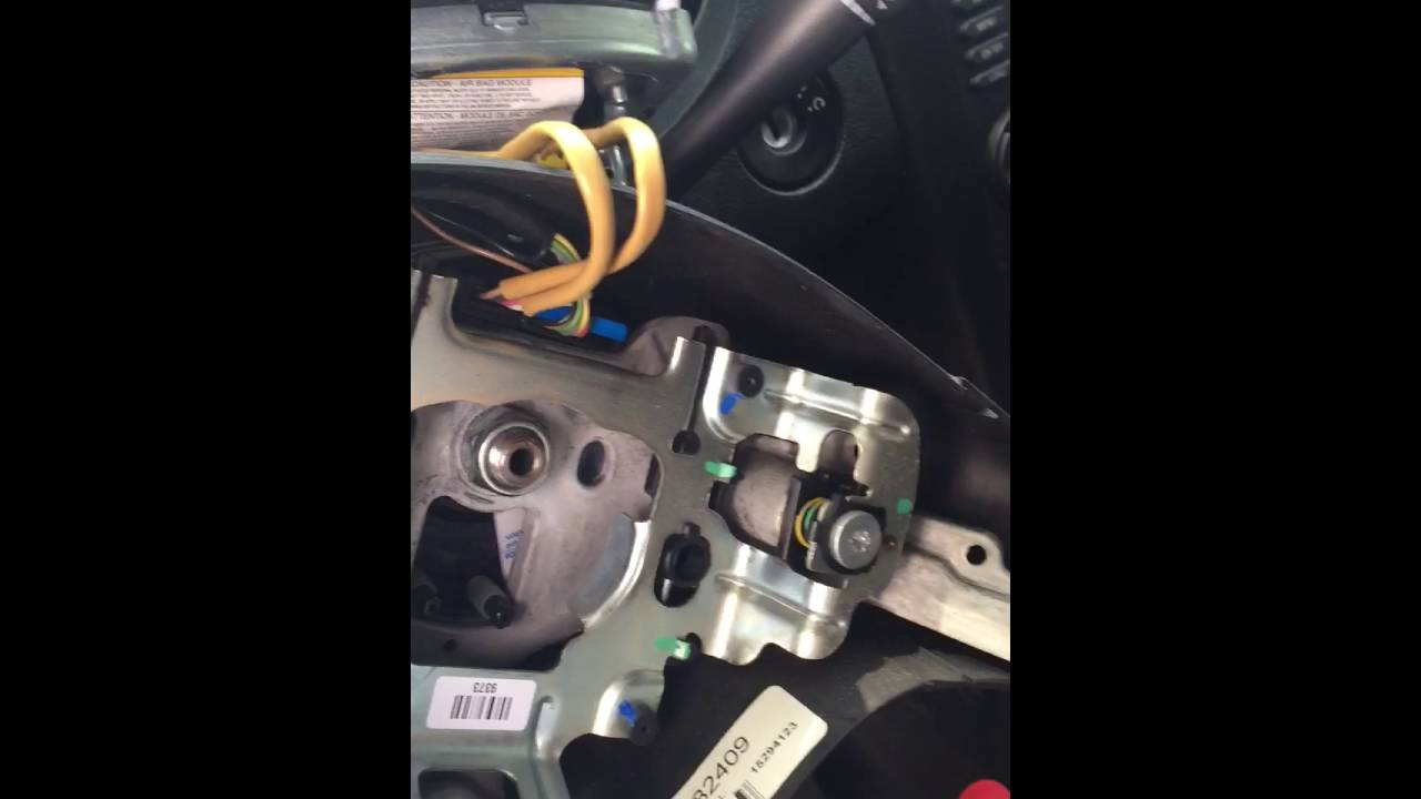 how to remove a 2006 g6 airbag steering controls [ 1280 x 720 Pixel ]