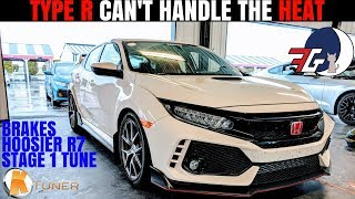 Honda Civic Type R OVERHEATING??!! | Post Track Day Review (Hoosiers Ktuner & Brakes)