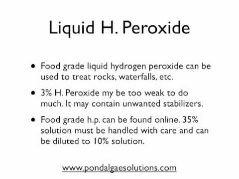 Hydrogen Peroxide Use In Ponds You