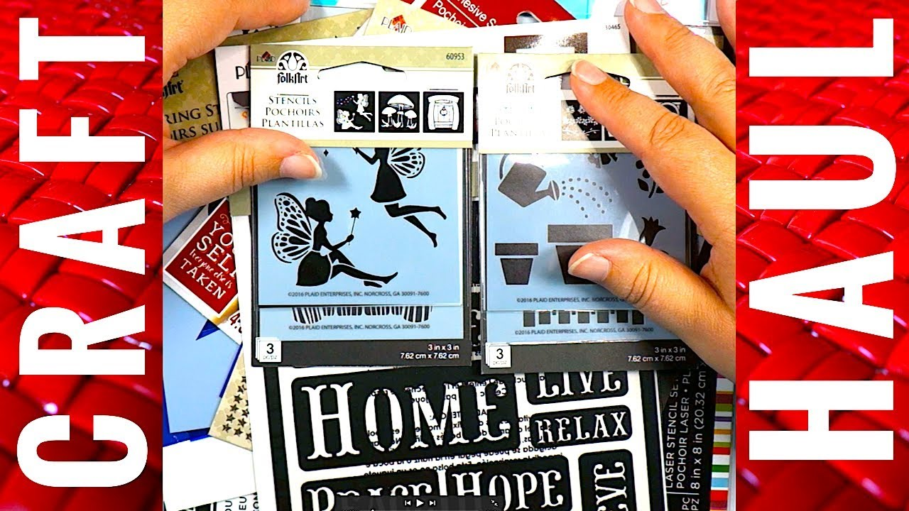 Michaels Haul Craft Stencils For My Stash 06 27 17 You