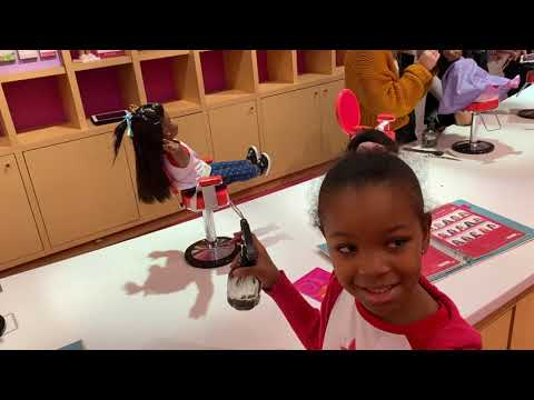 Amber's American Girl Dolls Have A Day At The Salon!
