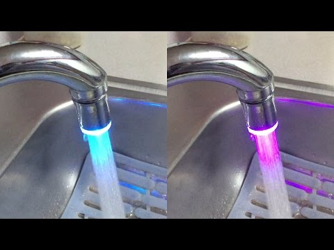 DealPeak 7 Colors LED Lights Tap (Faucet) for Kitchen and Bathroom