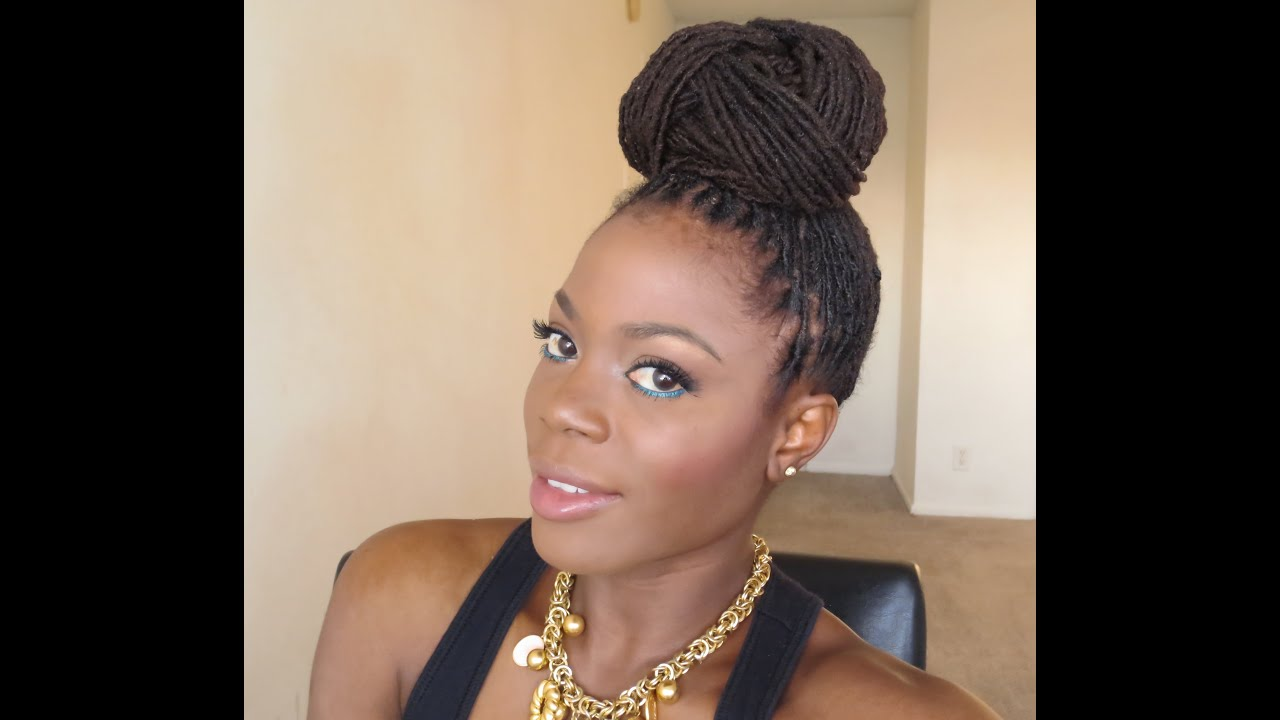 Hair Styles Updo: Loc Hairstyle Tutorial :Beyonce Inspired Bun Updo/Jungle