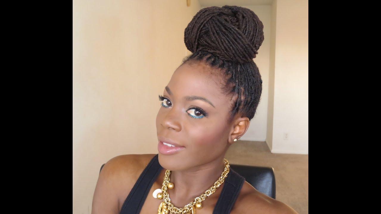 Loc Hairstyle Tutorial :Beyonce Inspired Bun Updo/Jungle