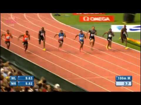 100m Yohan Blake 9.69 Lausanne 2012