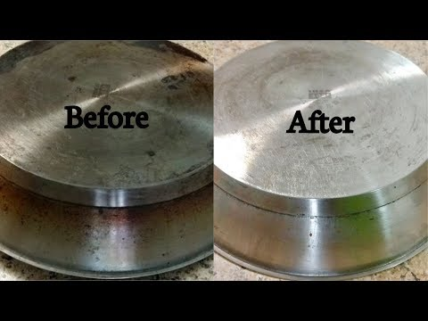How to clean pan bottom | How to remove carbon grease