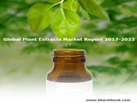 Global Plant Extracts Market Report 2017 2022