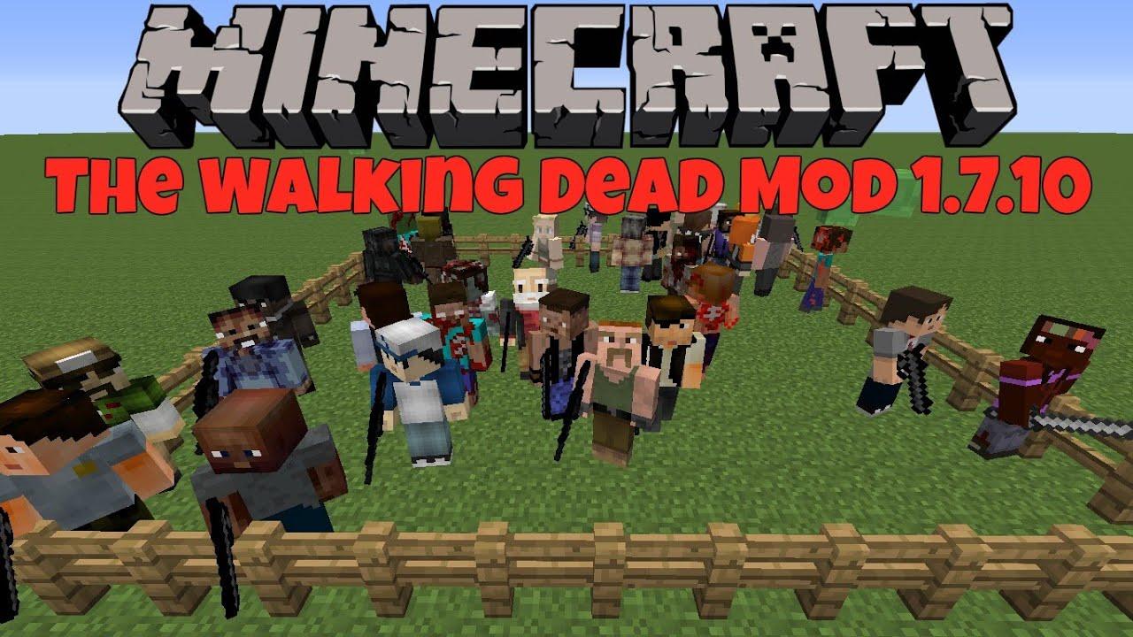Minecraft The Walking Dead Mod 1 7 10 Youtube