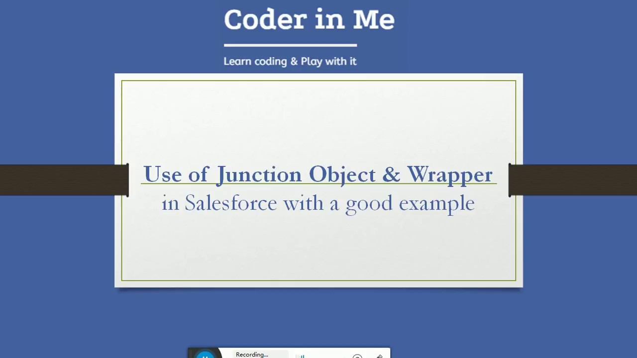 Wrapper Class & Junction Object with good example Salesforce - CoderinMe