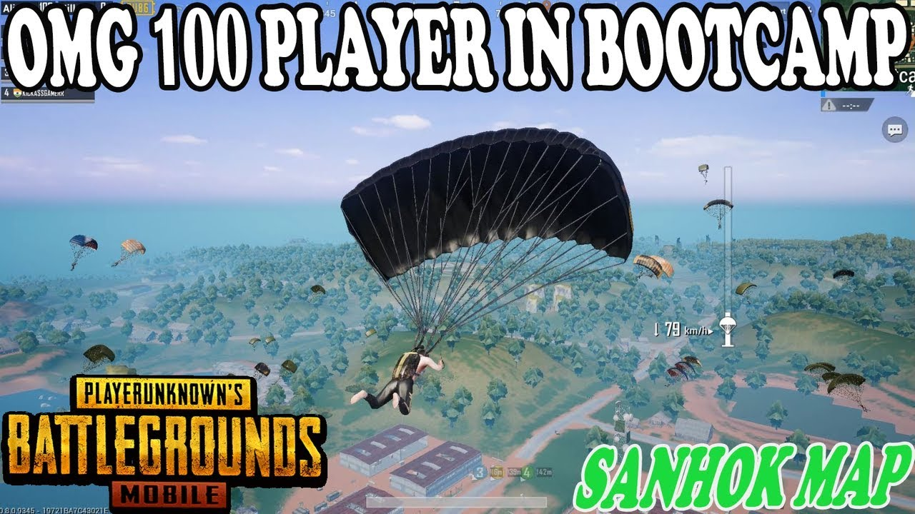 Omg 😱 100 Players In Bootcamp Sanhok Map Big Fight Sare