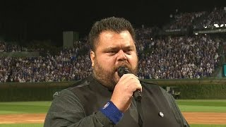 NLCS Gm1: John Vincent performs the national anthem