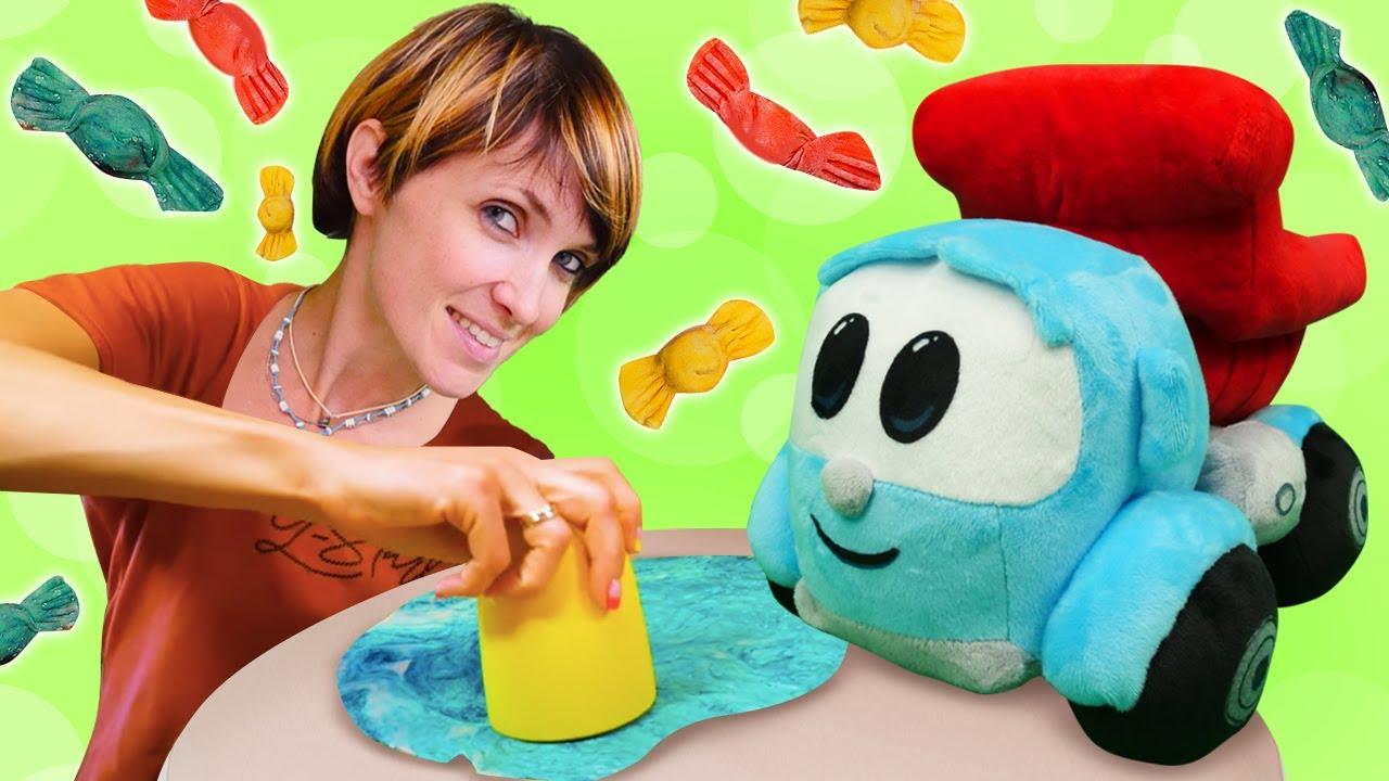 Пельмени для детей - Веселое видео челлендж - Грузовичок Лева и Рецепты Капуки Кануки