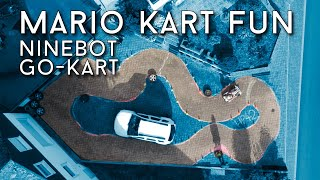 Playing some Mario Kart in our Driveway! Ninebot Go-Kart