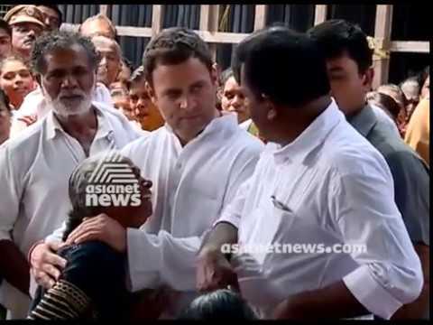 Rahul Gandhi  Visit Areas Hit By Cyclone Ockhi In Kerala