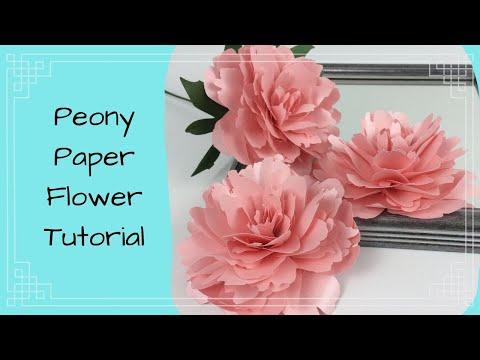 Paper Peony Tutorial- Sunflower Summer Co