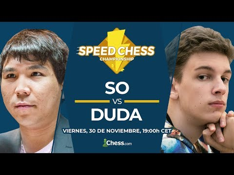 Semifinales del Speed Chess Championship Wesley So vs Jan-Krzysztof Duda