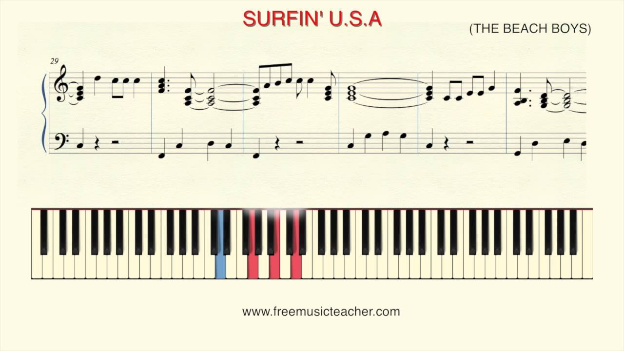 How to play piano surfin usa the beach boys youtube how to play piano surfin usa the beach boys hexwebz Images
