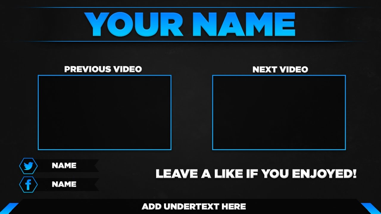 Free outro template psd 2017 youtube for Free outro template