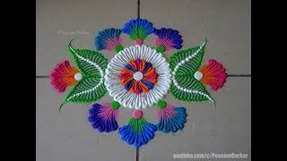 Small, easy and quick rangoli using bangles | Easy rangoli designs by Poonam Borkar