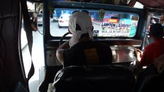 Riding a Jeepney in Manila, Philippines