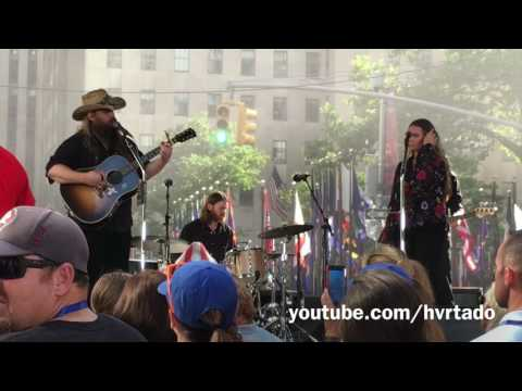 CHRIS STAPLETON Broken Halos @ Today SHOW 071817