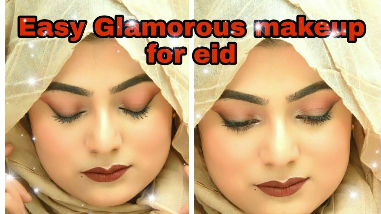 Easy Glamourous Makeup for Eid || Easy Eye makeup || Eye makeup
